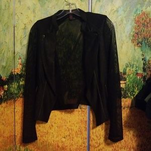 Material Girl Blazer with sheer sleeves and Back